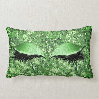 Aluminium Metallic Winkled Tropical Makeup Lashes Lumbar Pillow