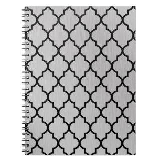 Aluminium Moroccan Quatrefoil Pattern Note Books