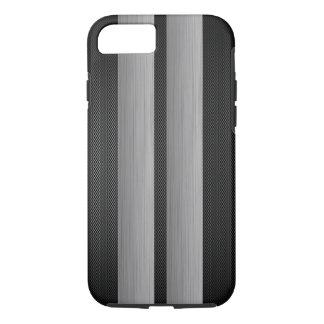 Aluminum and carbon fiber look racing race stripes Case-Mate iPhone case
