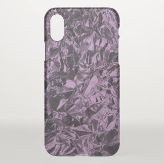 Aluminum Foil Design in Lavender iPhone X Case