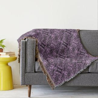 Aluminum Foil Design in Lavender Throw Blanket