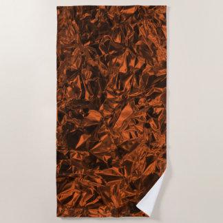 Aluminum Foil Design in Orange Beach Towel