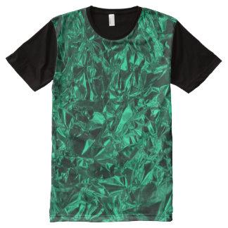 Aluminum Foil Design in Teal All-Over-Print T-Shirt