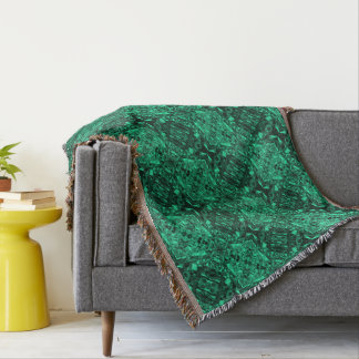 Aluminum Foil Design in Teal Throw Blanket