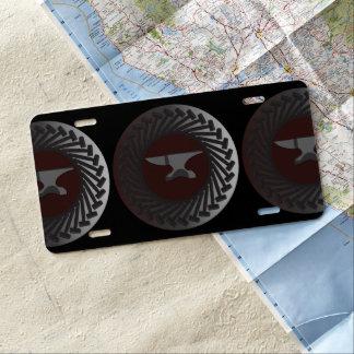 Aluminum License Plate - ANVIL & HAMMERS