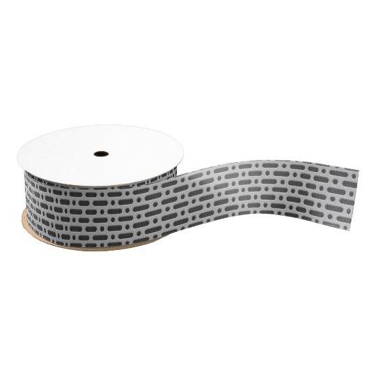 Aluminum Silver Grey Circle Dash Grid Metal Grate Grosgrain Ribbon