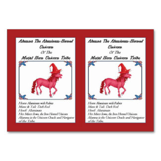 Alumna the Aluminum Horned Unicorn Trading Card