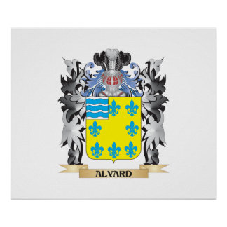 Alvard Coat of Arms - Family Crest Poster
