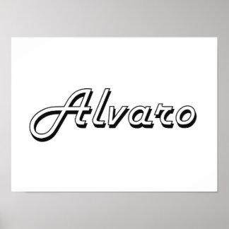 Alvaro Classic Retro Name Design Poster