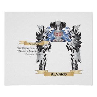 Alvaro Coat of Arms - Family Crest Poster
