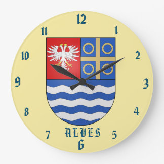 Alves Family Coat of Arms Clock