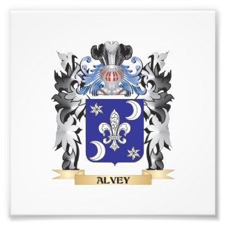 Alvey Coat of Arms - Family Crest Photo Print