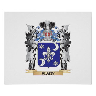 Alvey Coat of Arms - Family Crest Poster