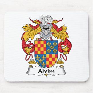 Alvim Family Crest Mouse Pad
