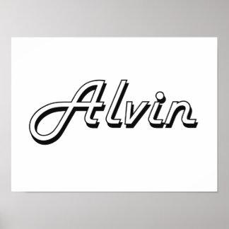 Alvin Classic Retro Name Design Poster
