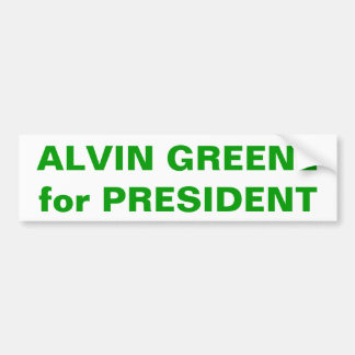 ALVIN GREENE for PRESIDENT Bumper Sticker