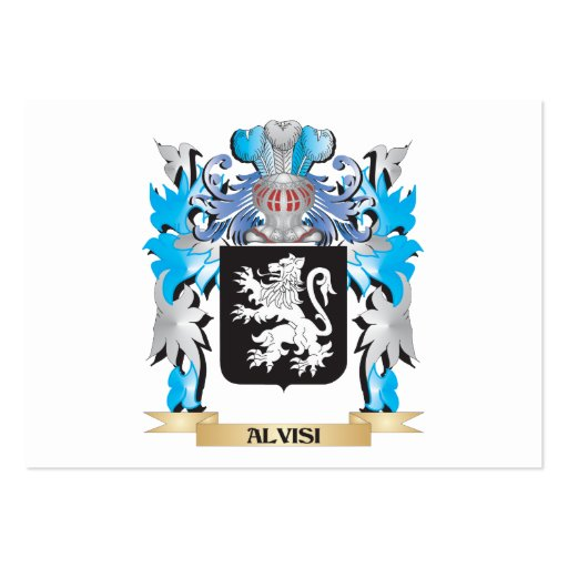 Alvisi Coat Of Arms Business Card Templates