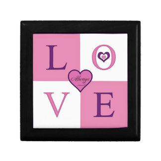 Alway Love Wooden Jewelry Keepsake Gift Box