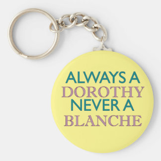 Always a Dorothy, Never a Blanche Basic Round Button Keychain