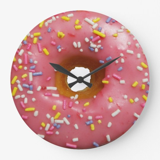 Always a good time for doughnut large clock