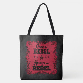 Always a Rebel Personalized Tote