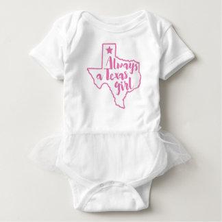 Always a Texas Girl Baby Tutu Bodysuit