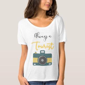 """""""Always a Tourist"""" Slouchy Boyfriend Top"""