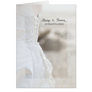 Always and Forever Beautiful Bride Anniversary Card