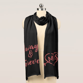 Always and Forever Love Doodle Monogram Scarf