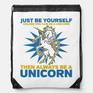 Always be a Unicorn Drawstring Bag