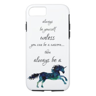 Always Be A Unicorn Space Watercolor Nebula Case