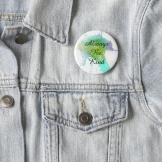 Always Be Kind watercolor pin