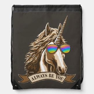 Always be you drawstring bag