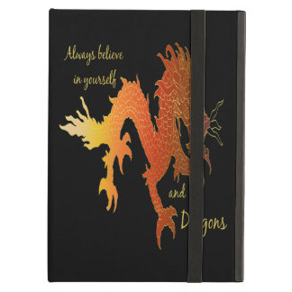 Always Believe in Yourself & Dragons Inspirational Cover For iPad Air