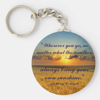 Always bring your own sunshine keychain