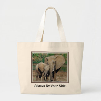 Always By Your Side Large Tote Bag
