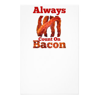 Always Count On Bacon! Customized Stationery