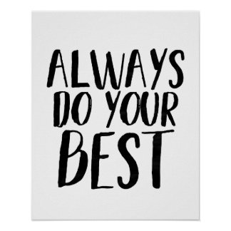 Always Do Your best - Typography style poster
