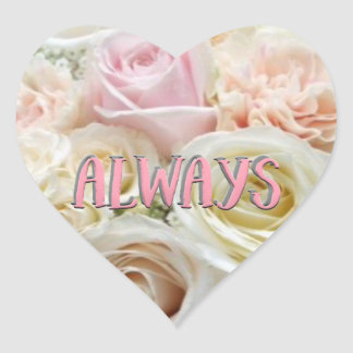 Always Floral Heart Sticker and Envelope Seal