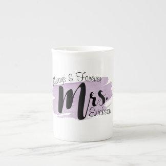 """Always & Forever Mrs."" Purple Watercolor Mug"