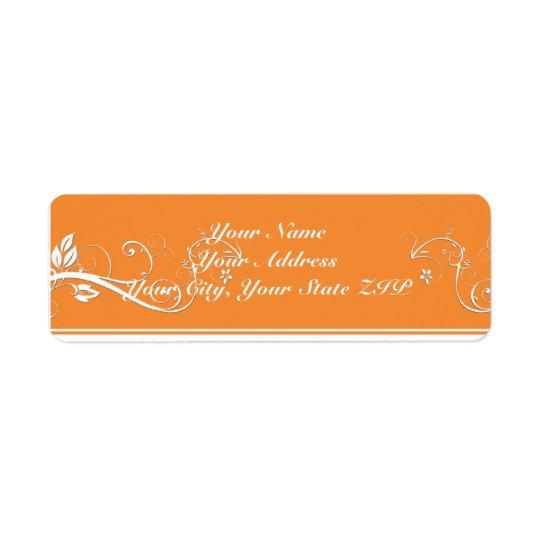 Always Forever Orange Vine Scroll Return Address