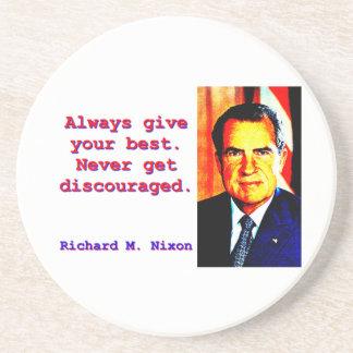 Always Give Your Best - Richard Nixon Coaster