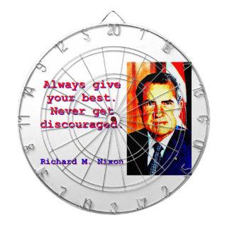 Always Give Your Best - Richard Nixon Dart Board