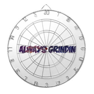 """Always Grinding"" apparels Dartboard"