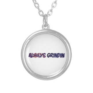 """""""Always Grinding"""" apparels Silver Plated Necklace"""