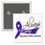 Always Hope Rheumatoid Arthritis 2 Inch Square Button