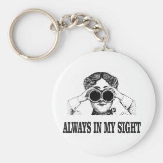 always in my sight basic round button keychain