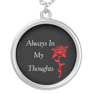 Always In My Thoughts Silver Plated Necklace