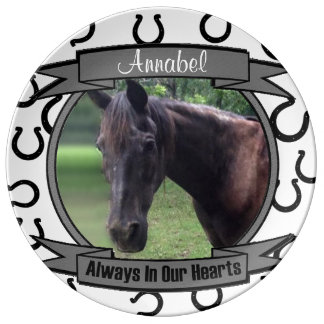 Always in Our Hearts - Horse Memorial Porcelain Plate