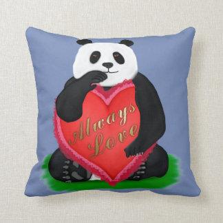 Always love Panda Throw Pillow